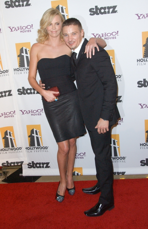 Charlize Theron and Jeremy Renner