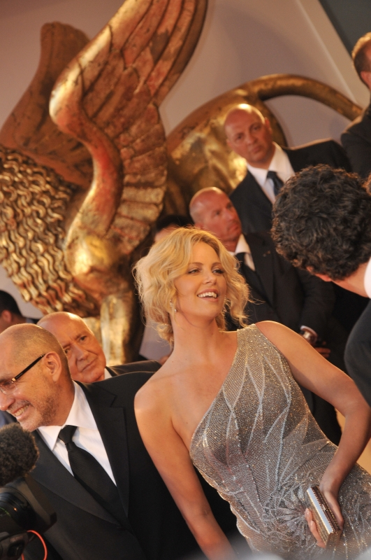 Charlize Theron and Guillermo Arriaga