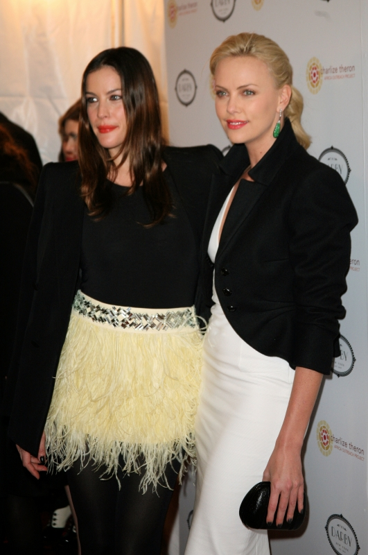 Liv Tyler and Charlize Theron