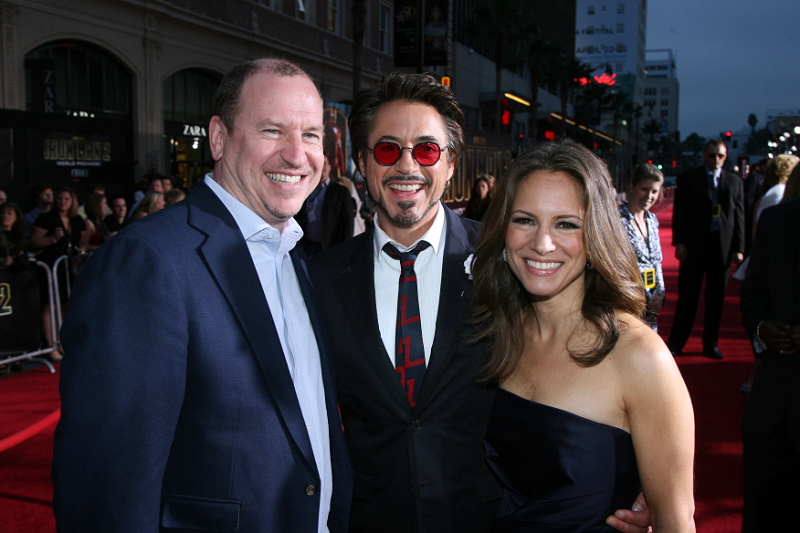 Paramount\'s Rob Moore, Robert Downey Jr. and wife / producer Susan Downey