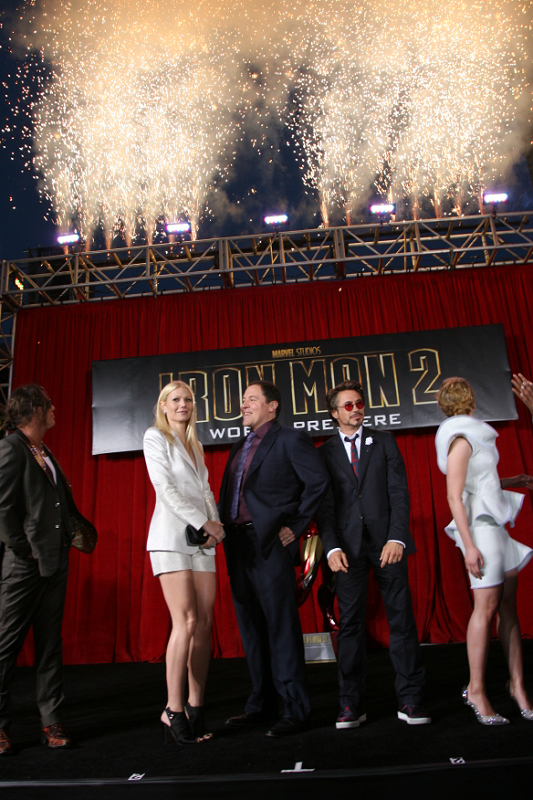 Mickey Rourke, Gwyneth Paltrow, Jon Favreau, Robert Downey Jr. and Scarlett Johansson