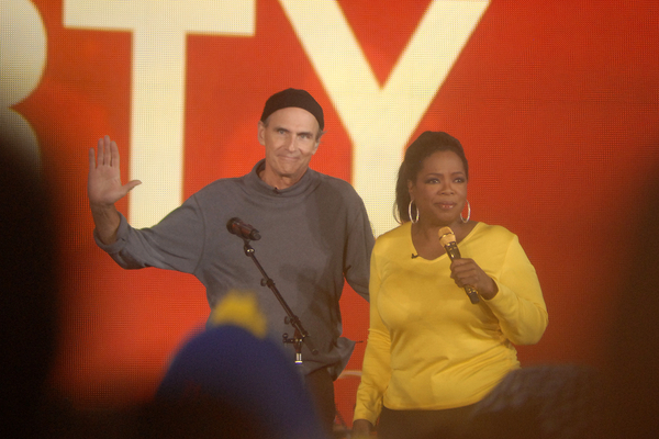James Taylor with Oprah