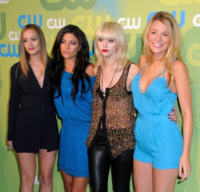 Leighton Meester, Jessica Szohr, Taylor Momsen and Blake Lively