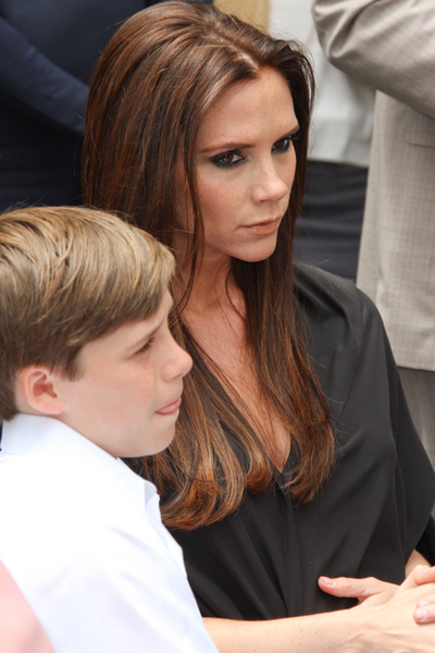 Victoria Beckham and Brooklyn Beckham