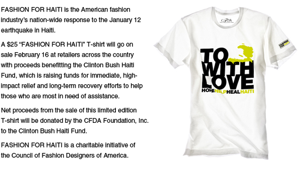 fashion for haiti t-shirt
