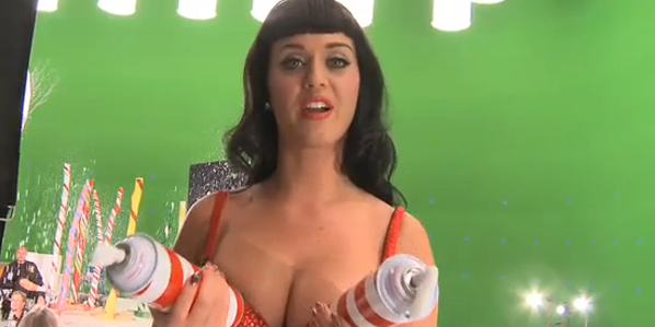 "... stripping down naked in her latest music video for ""California Gurls."""