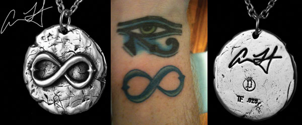 Adam Lambert's 2nd tattoo made into a pendant for charity ...
