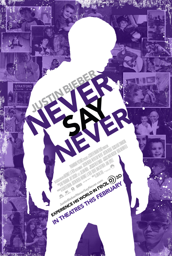 "justin bieber never say never poster. ""Never Say Never"" hits"