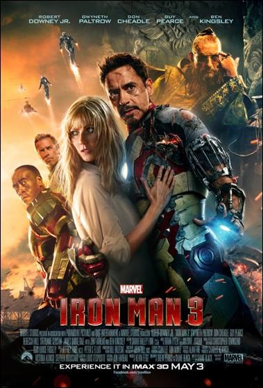 Iron Man 3 poster real size 379x559