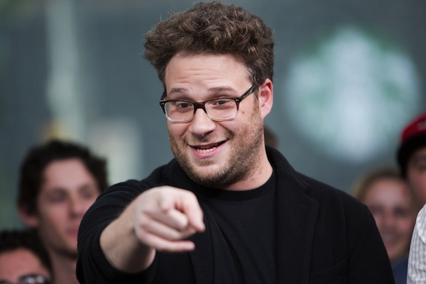 Seth Rogen Visits New.Music.Live. at Bell Media Headquarters in Toronto on May 27 2013