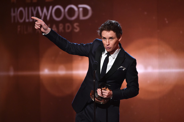 eddie redmayne at 2014 hfas