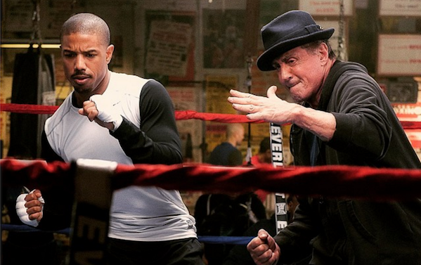 In Ring Creed Sylvester Stallone and Michael B. Jordan