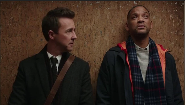 Collateral Beauty Will Smith and Edward Norton